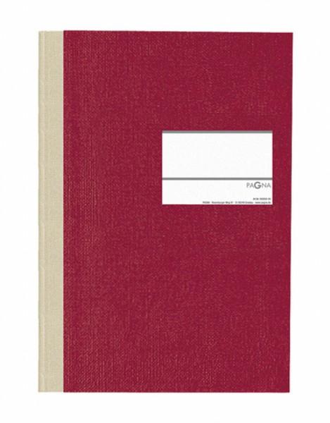 Geschäftsbuch/Memobuch 'PAGNA Classica' A4, kariert (Rot)