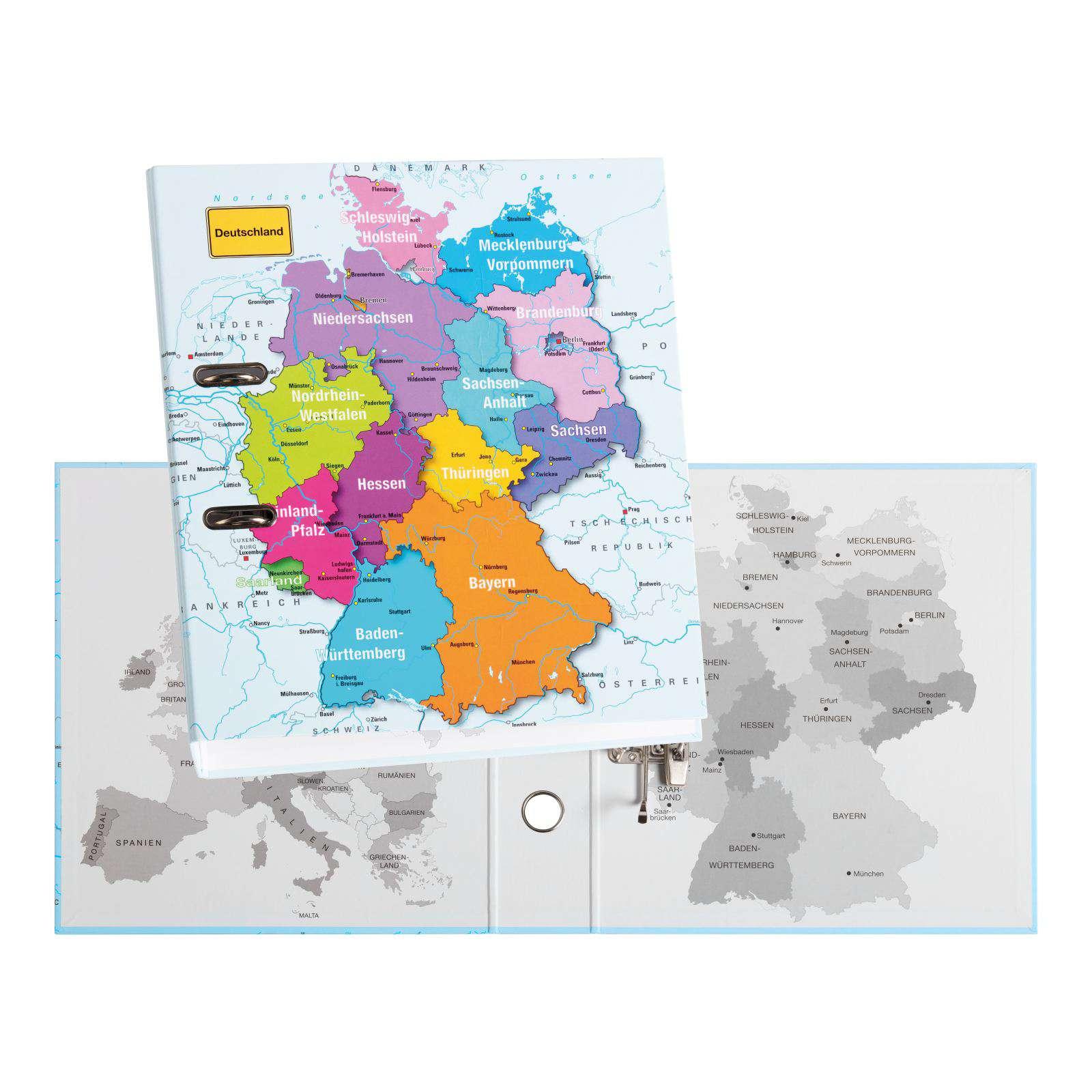 Ordner Mit Deutschlandkarte In A4 Format Fur Madchen Und Jungen