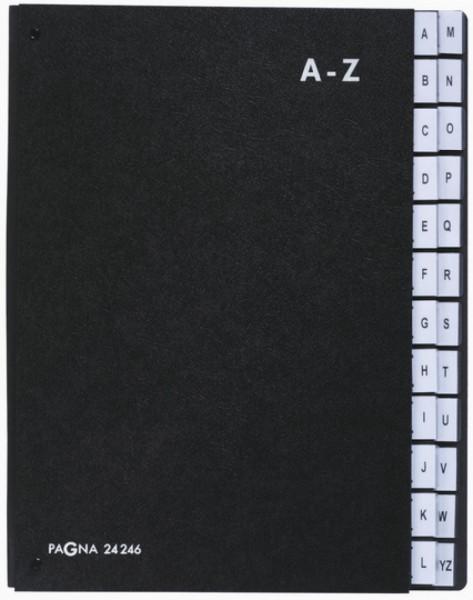 Pultordner 24-teilig (Schwarz)