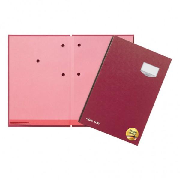 Unterschriftsmappe 'de Luxe' 10-teilig (Rot)