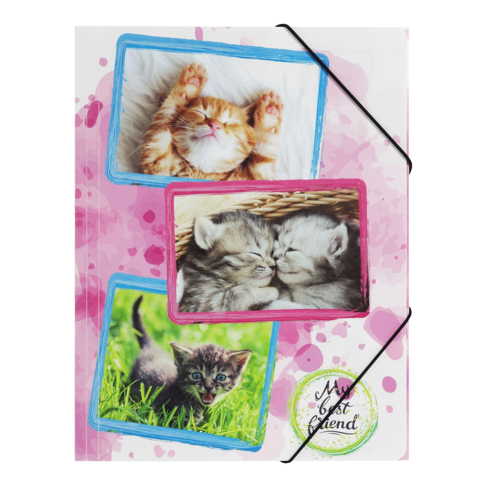 Postmappe A4 mit Gummizug Kätzchen