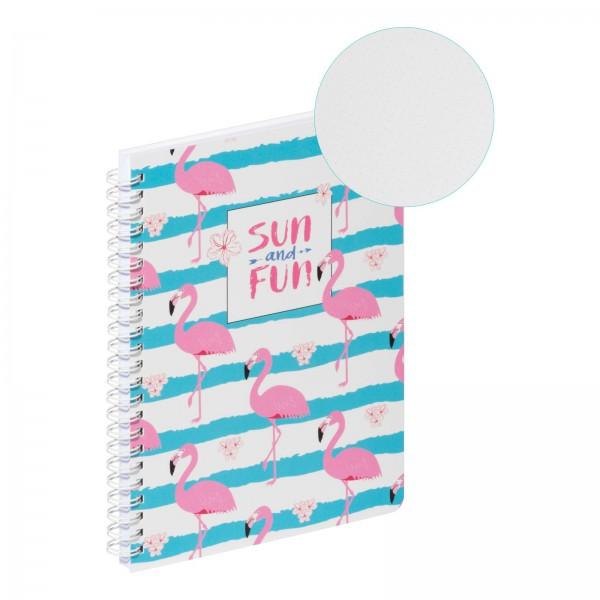 Spiralnotizbuch A5 PP Flamingo